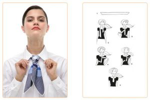 How to Knot a Hermes Scarf