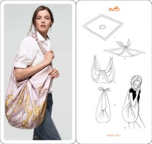 How to Tie a Hermes Scarf into Bag