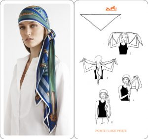 How to Wear Hermes Scarf on Head