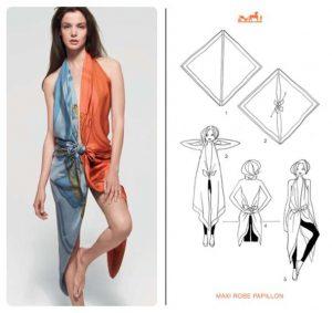 Make a Dress of Hermes Scarf