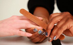 Nail Buffing for White Nails