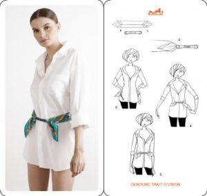Tie Hermes Silk Scarf Belt