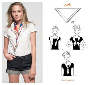 Ways to Tie a Hermes Scarf
