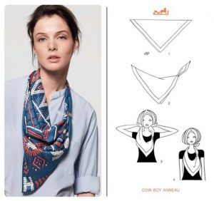 Ways to Wear a Hermes Scarf