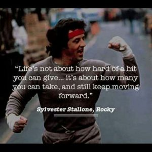 Sylvester Stallone Quote Keep Moving Forward