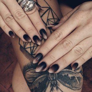Black MattOmbre Nails