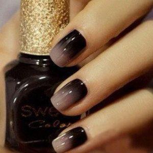 BlackOmbre Nails