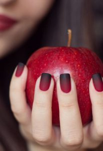 Black Red Ombre Nail Art for Winters