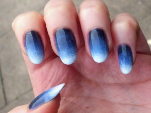 Blue Ombre Nail Design