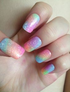 Easy Rainbow Ombre Nails Ideas
