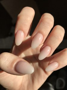 Natural Nude Ombre Nails