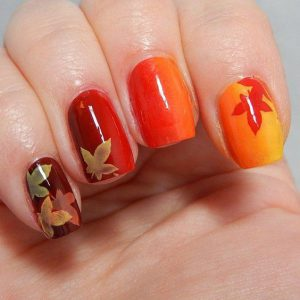 Ombre Nail Art for Thanksgiving