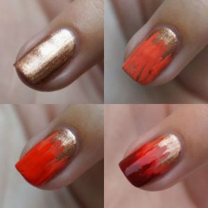 Ombre Nail Ideas for Fall