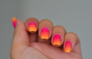 Sunset Gradient Ombre Nails